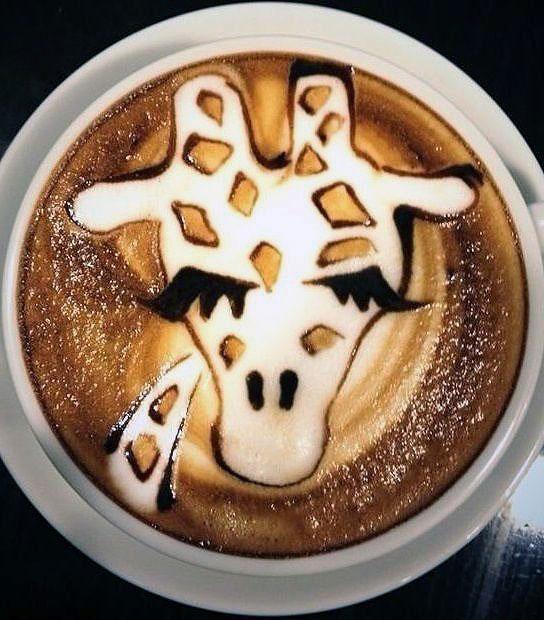 Creating Giraffe Latte Art