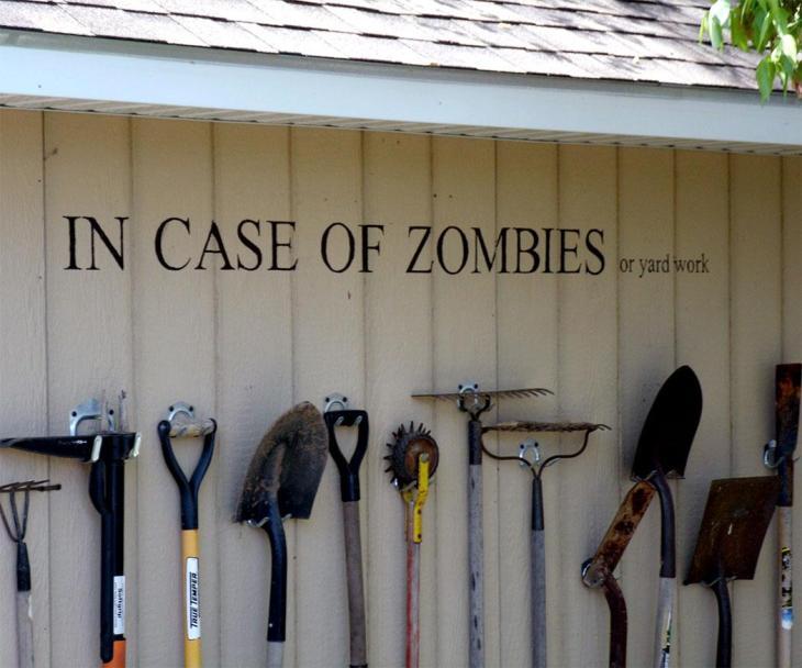 DIY Backyard Ideas | In Case of Zombies DIY Tool Rack