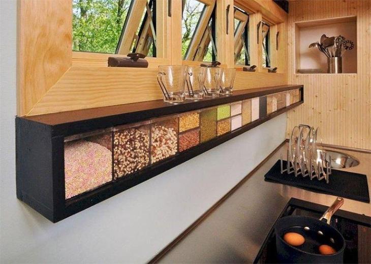 Kitchen Dry Goods Storage Shelf