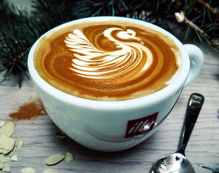Lovely Swan Latte Art