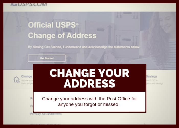 Moving Tip #16 Change Your Address with the Post Office