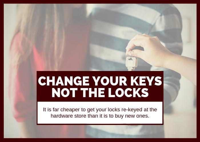 Moving Tip #18 Get Your Locks Re-Keyed Instead of Replacing Them
