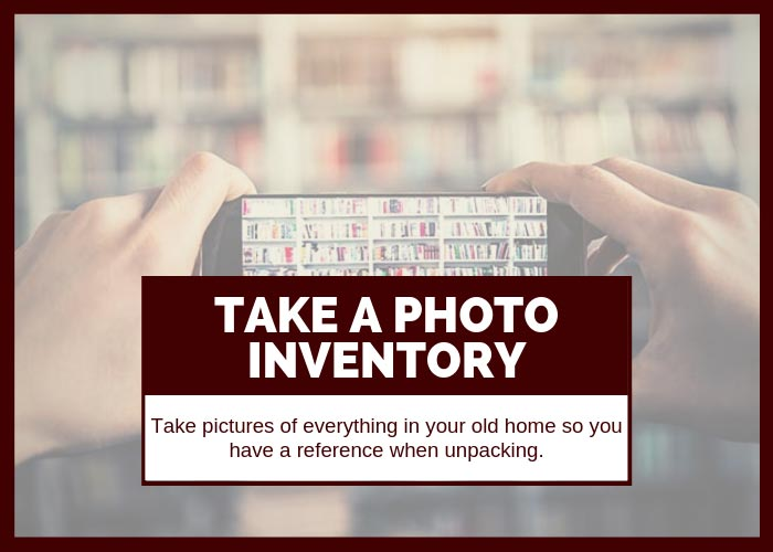 Moving Tip # 22 Take a Photo Inventory