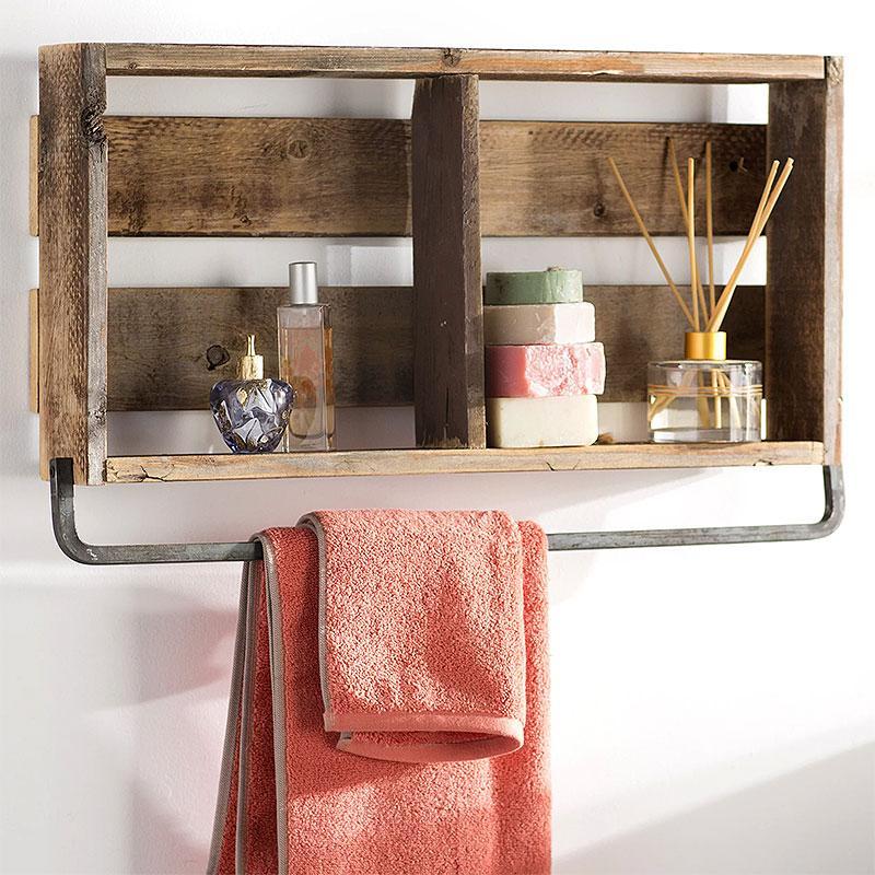 Natashia Barnwood Plank Wall Shelf