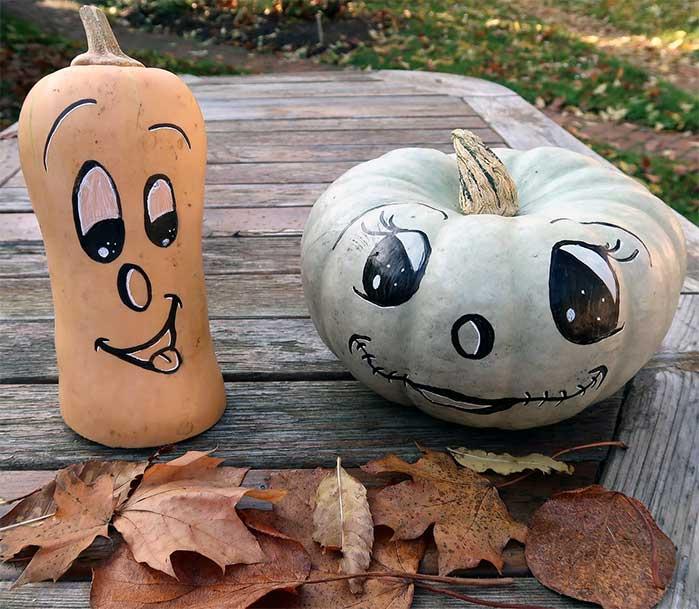 Painted Gourds & Pumpkins