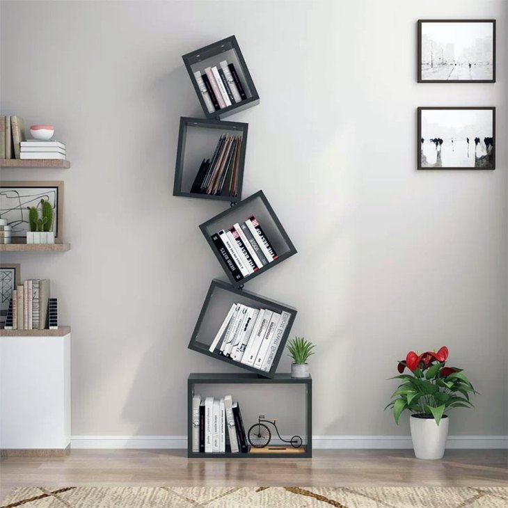 Plunkett Floating Off Kilter Shelf System