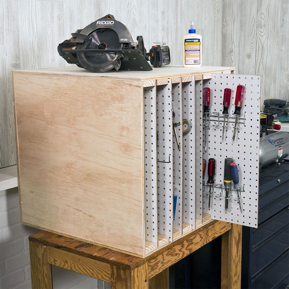 Sliding Pegboard Tool Storage System