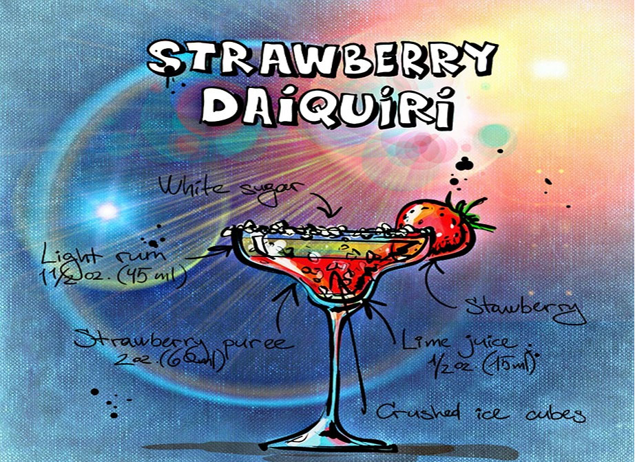 Strawberry Daiquiri Summer BBQ Cocktail