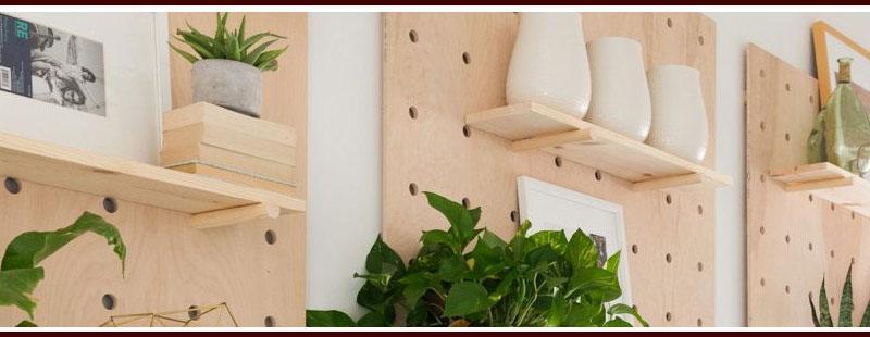 Unique Pegboard Shelves