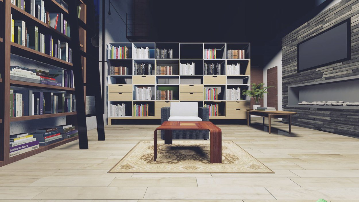 Using Cube Shelves as a Room Divider
