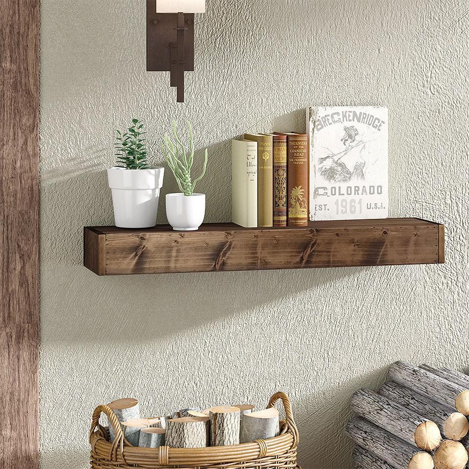 Wadebridge Rustic Wood Floating Shelf
