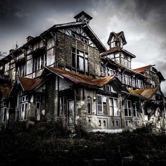 Abandoned Tudor Style Home