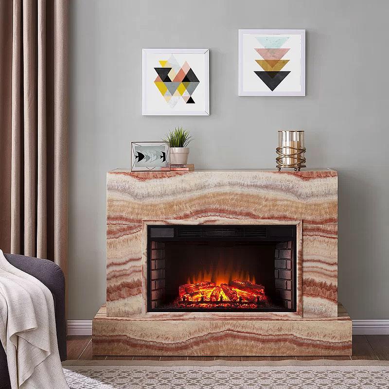 Alfaro Faux Brick Fireplace
