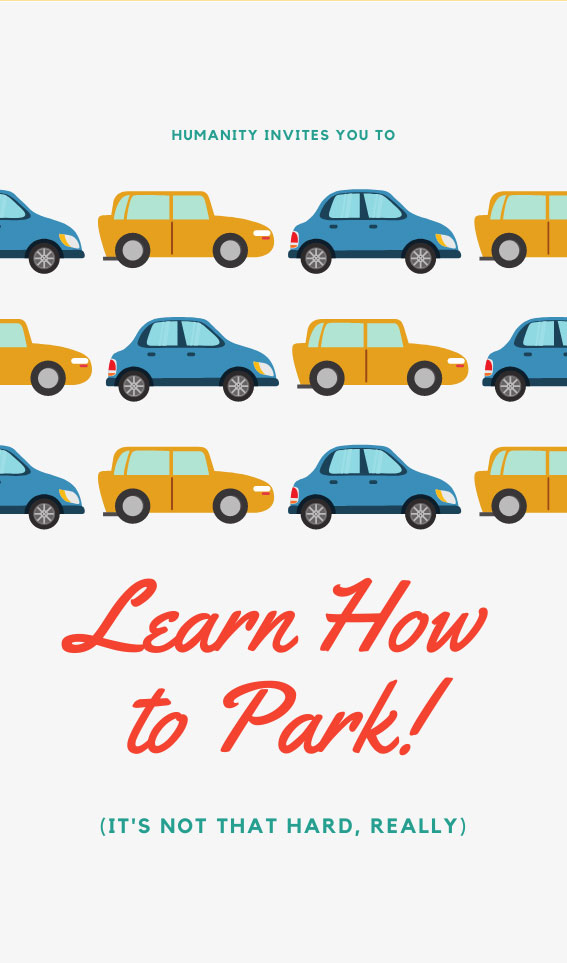 Learn How to Park | Bad Parking Business Card Note