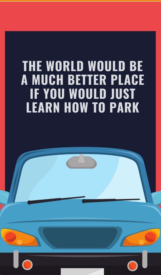 The World Would be a Better Place | Bad Parking Business Card Note