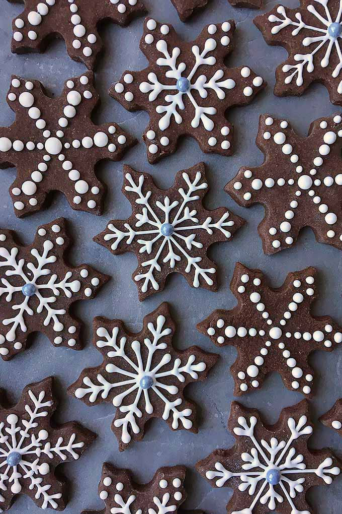 Brownie Snowflake Cookies