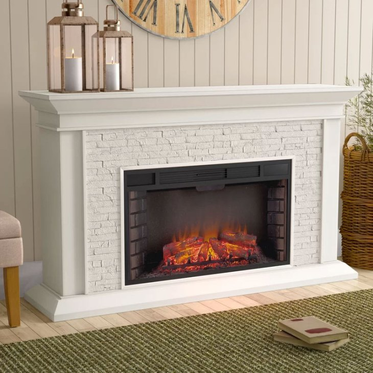 Camilla Simulated Brick Fireplace