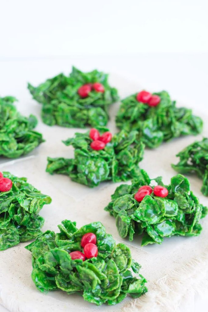 Christmas Holly Cookies