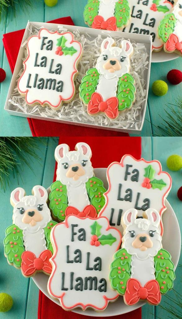 Christmas Llama Cookies