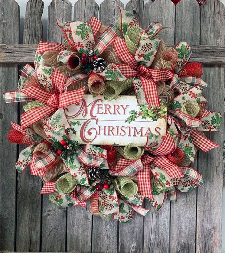 Country Charm Christmas Wreath