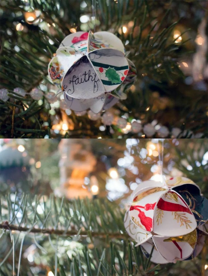 DIY Christmas Card Ornaments