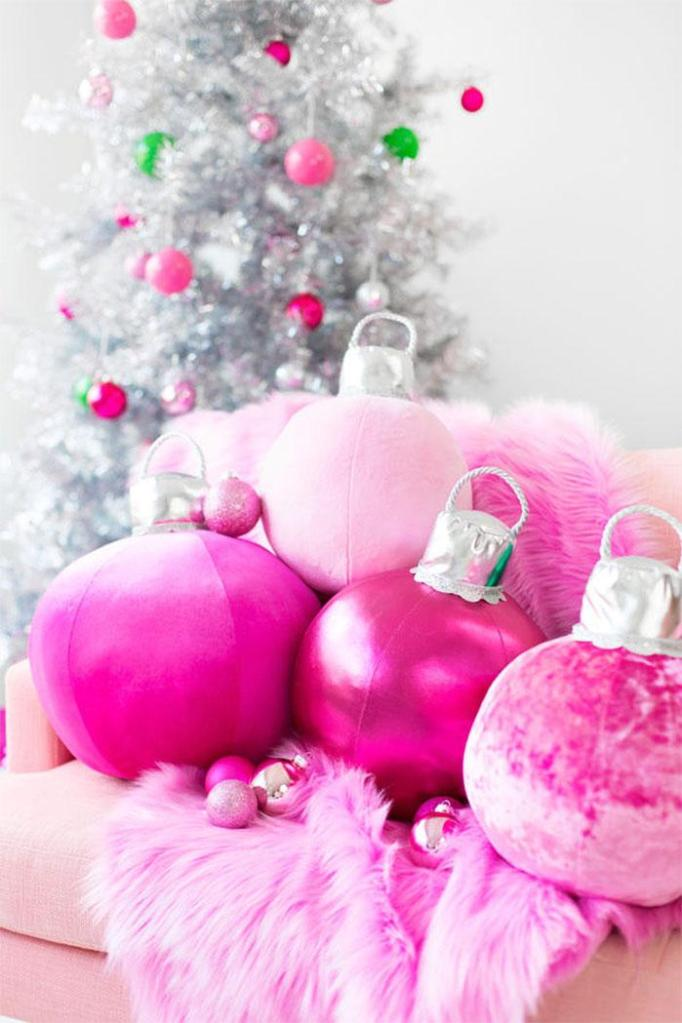 DIY Christmas Ornament Pillows