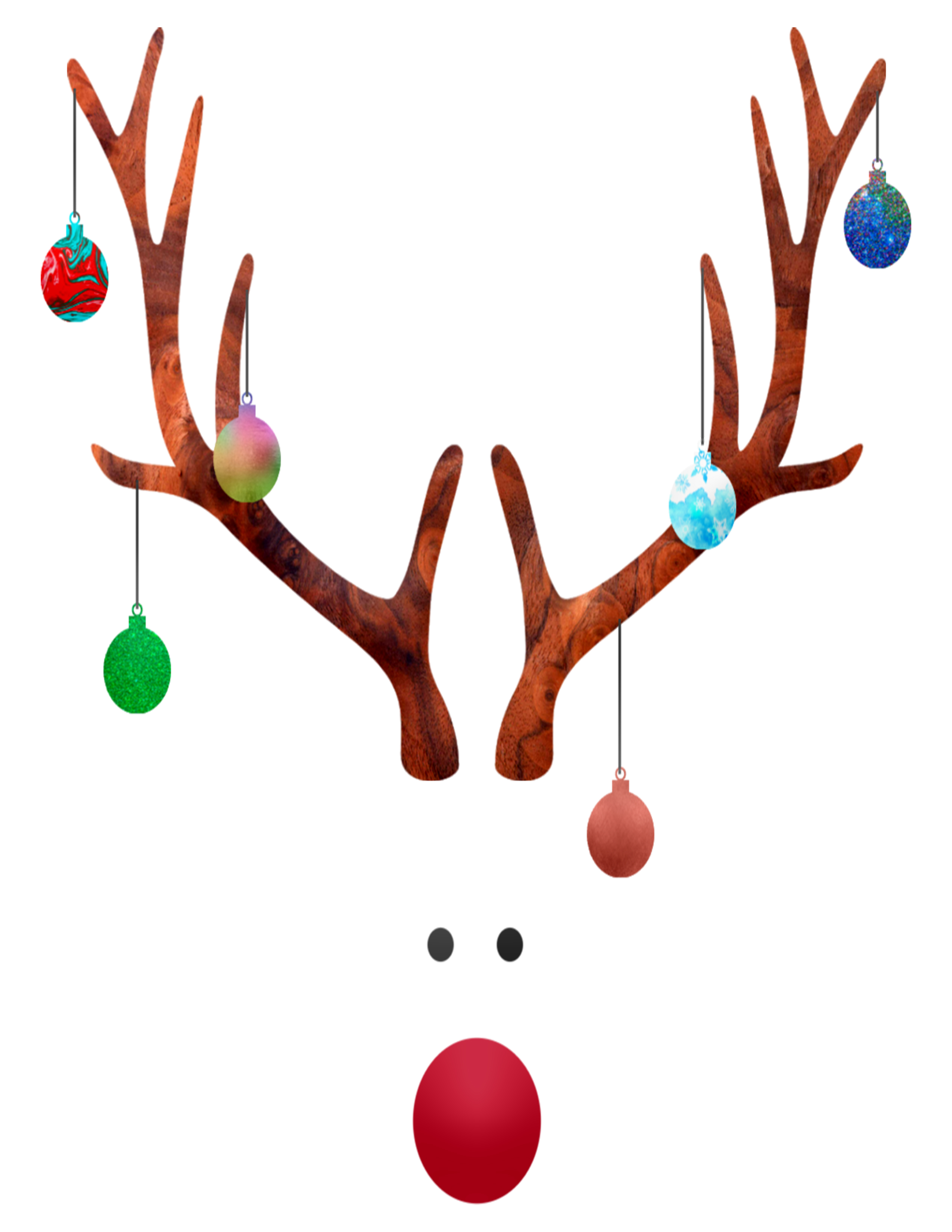 Decorated Rudolph Christmas Printable