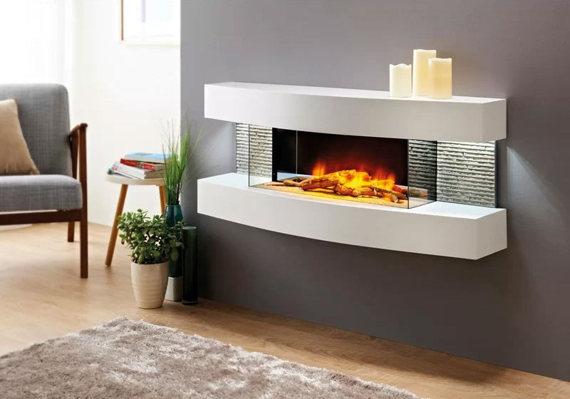 Fraenzel Curve Wall Mounted Electric Fireplace