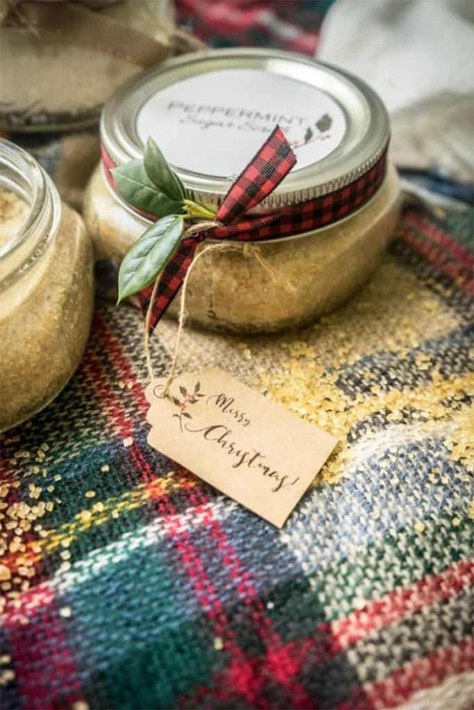 Peppermint Sugar Scrub DIY Christmas Gifts