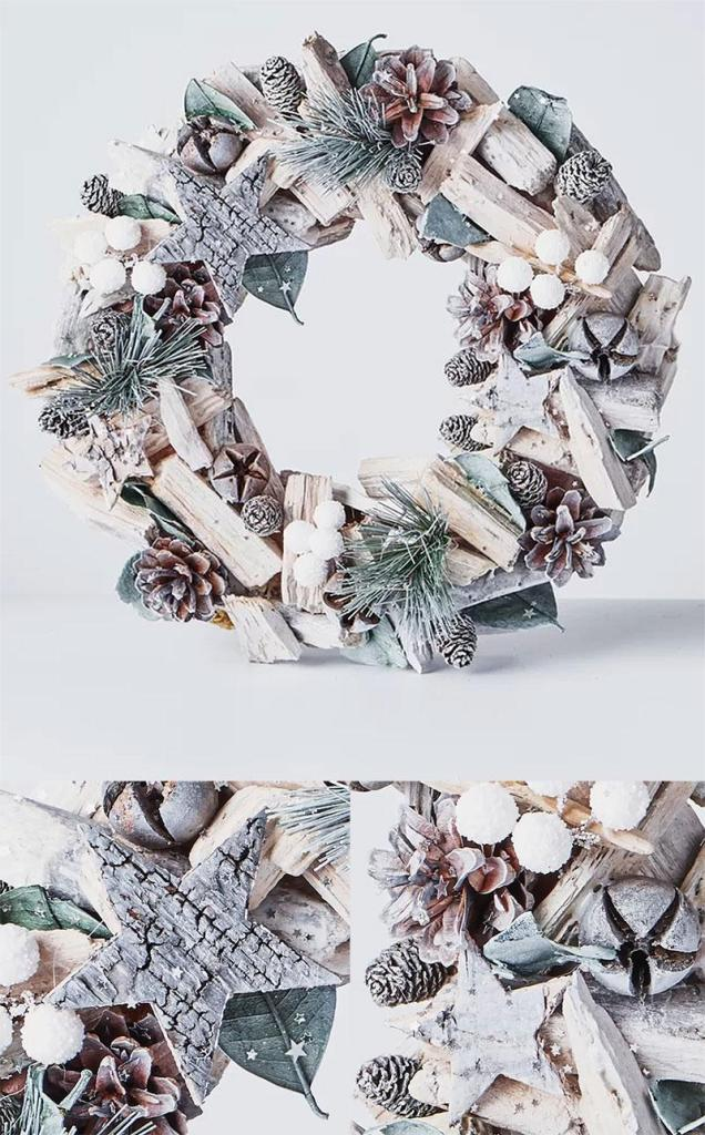 Preserved Handcrafted Wood Wreath
