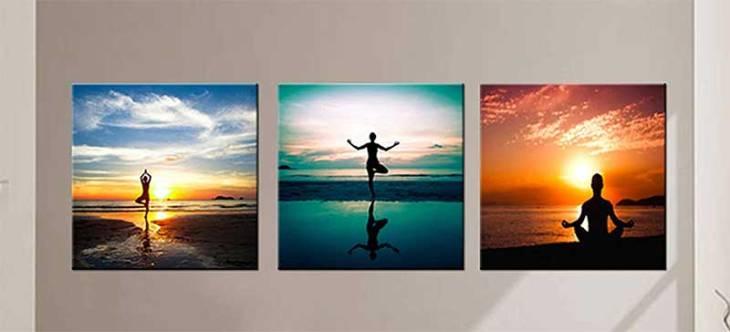 Seaside Yoga Art Set