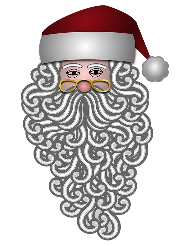 Sketched Santa Claus Christmas Printable