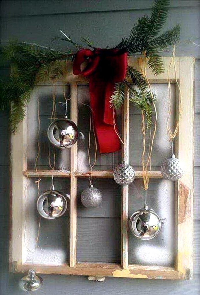 Vintage Christmas Window | DIY Christmas Decorations
