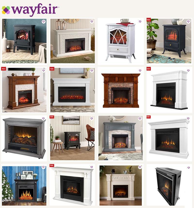 Wayfair Electric Fireplace Collection