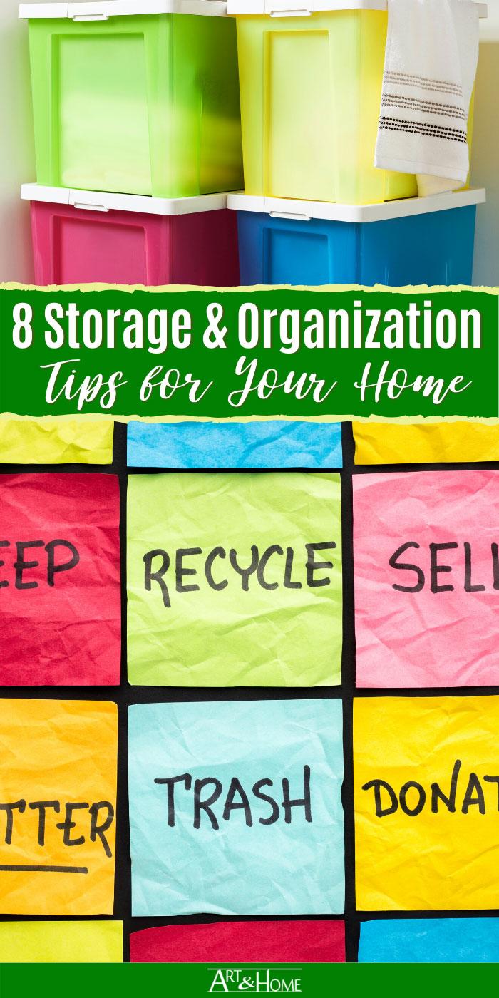 8 Home Storage & Organization Tips
