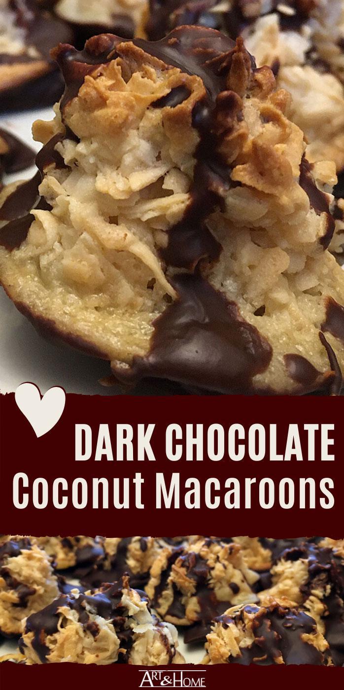 Dark Chocolate Coconut Macaroons Pin