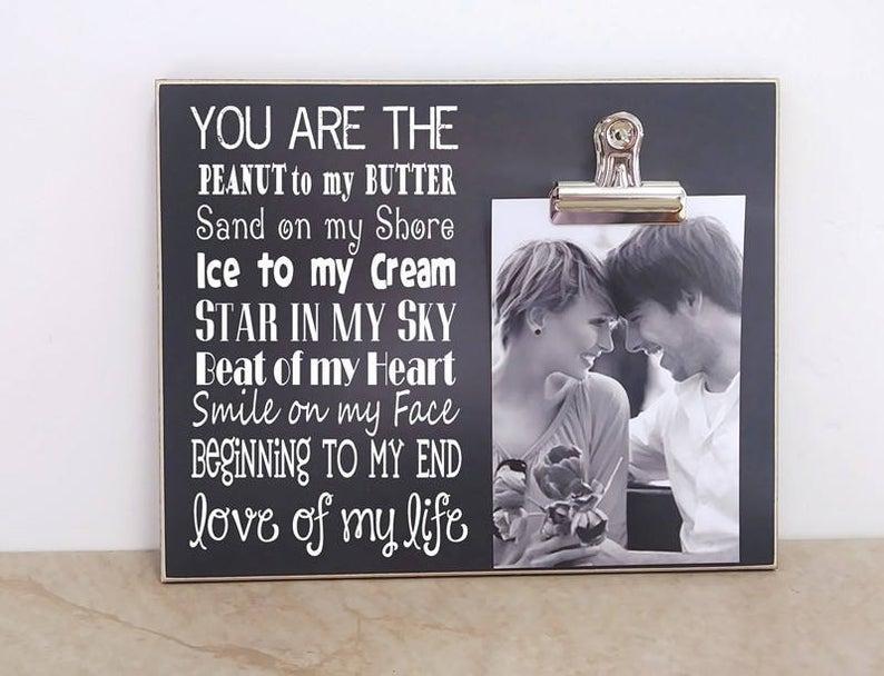 Valentines Love Poem Photo Clipboard