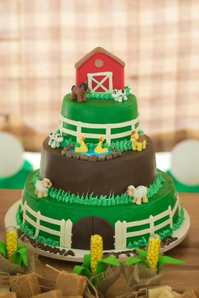 Birthday Cake Ideas for Boys - Farm