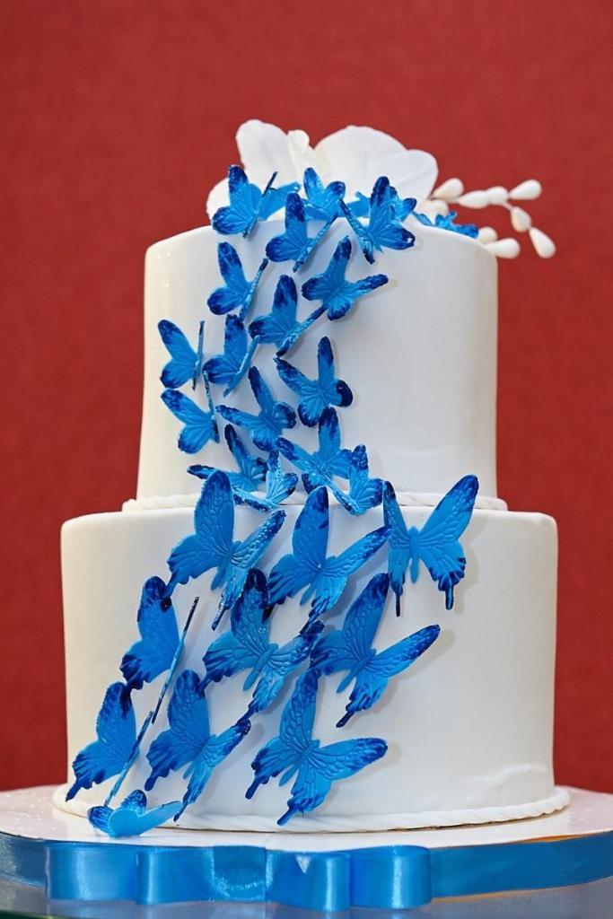 Blue Birthday Cakes - Blue Butterflies