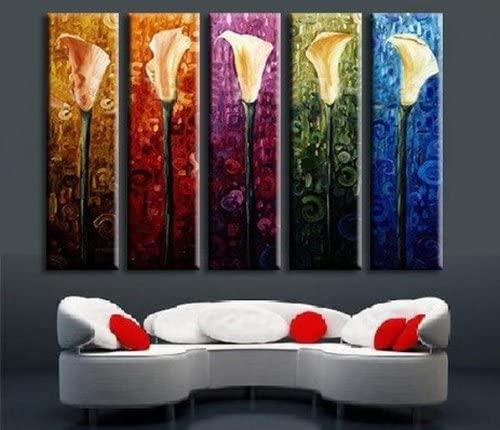 Calla Lily 5-Piece Rolled Canvas Modern Art Set