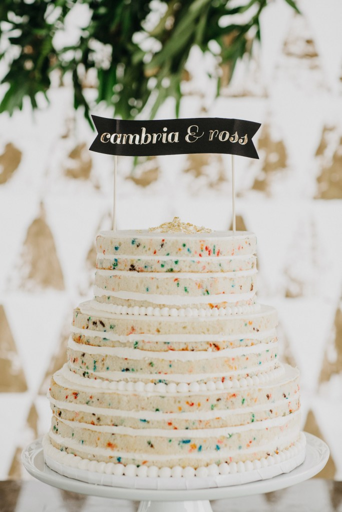 Confetti Wedding Cake by Mayflour Confections