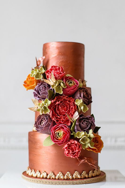 Copper Glory Wedding Cake by Elizabeth's Cake Emporium