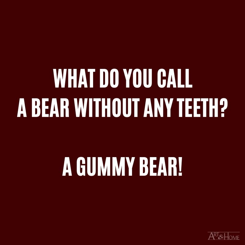 What do you call a bear without any teeth? A gummy bear!