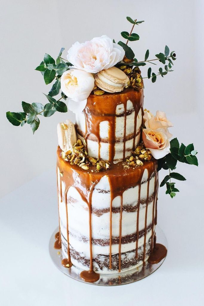 Dripping with Caramel Wedding Cake by Alita O'Brien of TOME