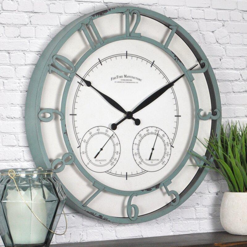 FirsTime & Co. Teal Laguna Outdoor Clock