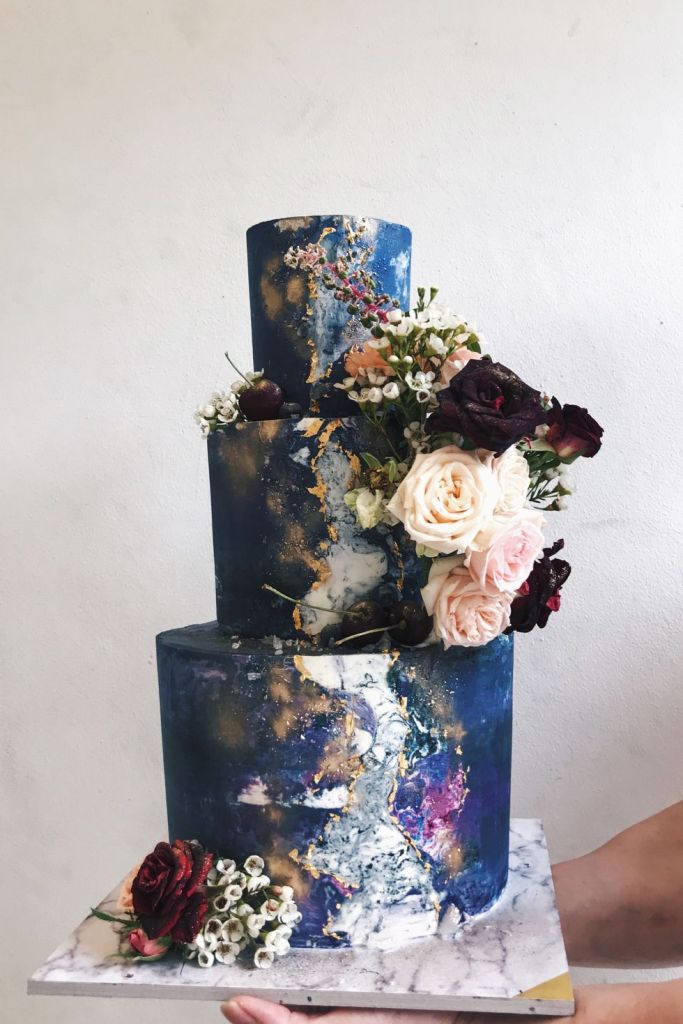 Galactic Wedding Cake by Cupplets Bakery