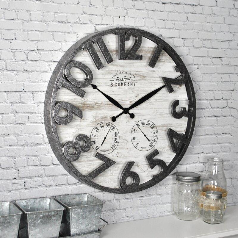 Galvanized Shiplap Wall Clock