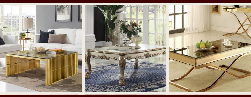 Gold Living Room Furniture | Gold Coffee Tables