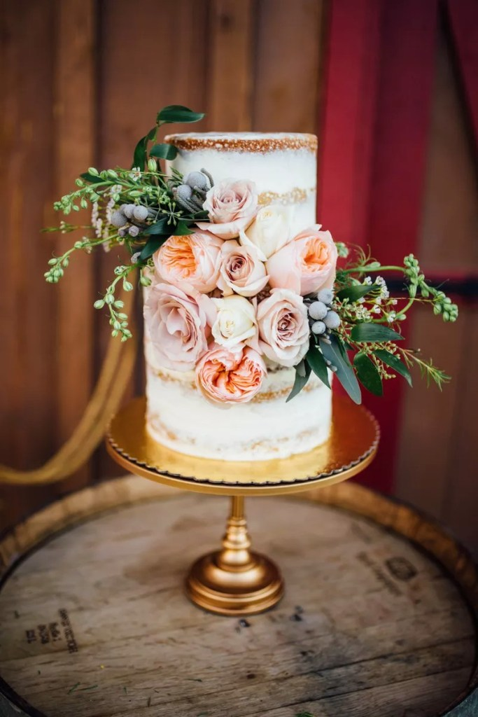 Nearly Naked Rose Bouquet Cake by Ava Bakes Cakes