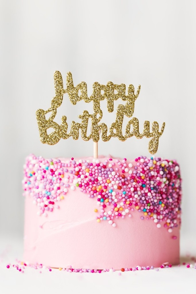 Pink Birthday Cake - Pink Sprinkles